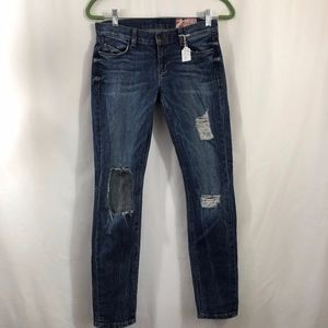 SIWY Distressed Skinny Anna Crop Jean